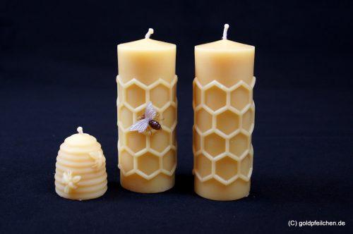 5: Kerzen mit Imkereimotiven