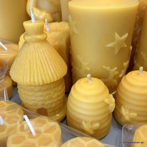 Kerzen und Teelichter aus reinem Bienenwachs